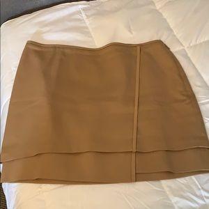 WHBM Tan mini skirt.
